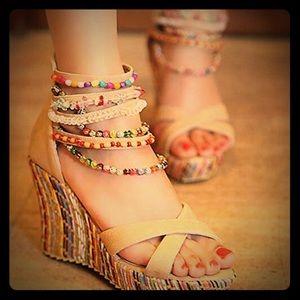 High Heel Platform Wedge Sandals